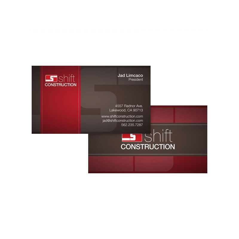 Construction Company Business Card Template - RFID and access ...