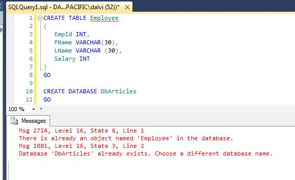 SQL Server: Check if Table or Database Already Exists