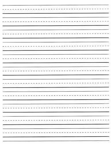 Lined writing paper printable elementary | Literature review ...