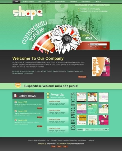 """50 Free High-Quality and """"New"""" (X)HTML/CSS Templates - noupe"""