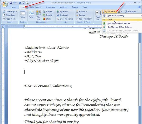 Merging for Dummies: Creating Mail Merge Letters in Word 2007 ...