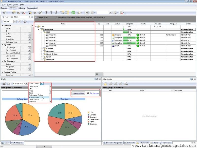 Project screen software for controlling, tracking and monitoring ...