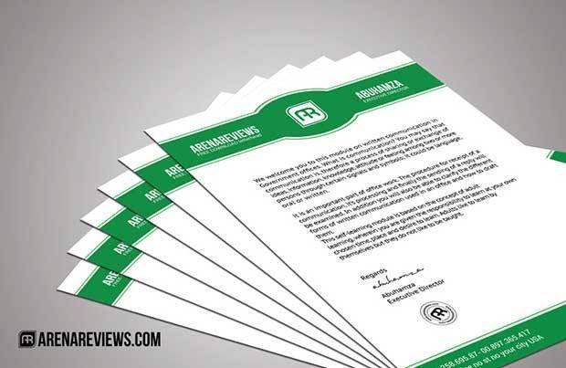 Psd Letterhead Template. Green Creative Psd Letterhead Template ...