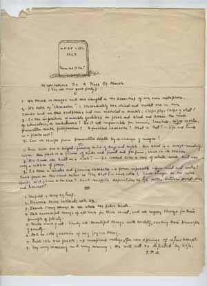 Examples of primary sources: Literary manuscripts