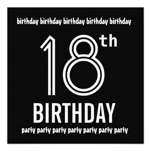 409 best 18th Birthday Party Invitations images on Pinterest ...