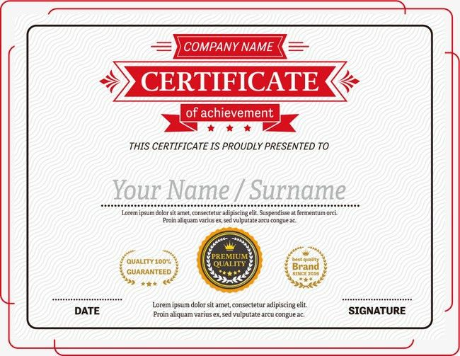 Vector red lines certificate border PNG and Vector for Free Download