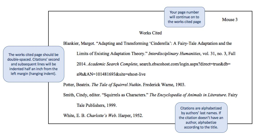 Works Cited Page - MLA Style Guide for Citations (8th edition ...