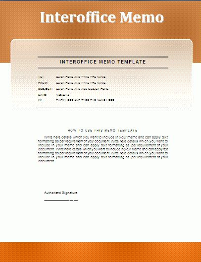 Interoffice Memo Template | Free Business Templates