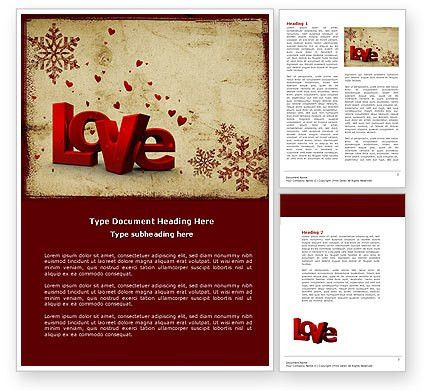 Free Christmas Love Word Template 04198 | PoweredTemplate.com