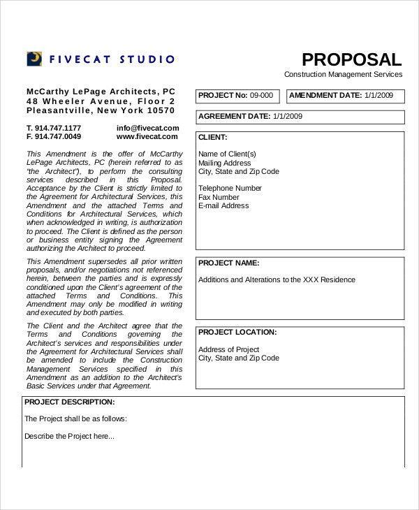 Management Proposal Templates - 6+ Free Word, PDF Format Download ...