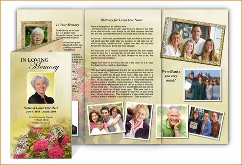 12 funeral brochure templateAgenda Template Sample   Agenda ...