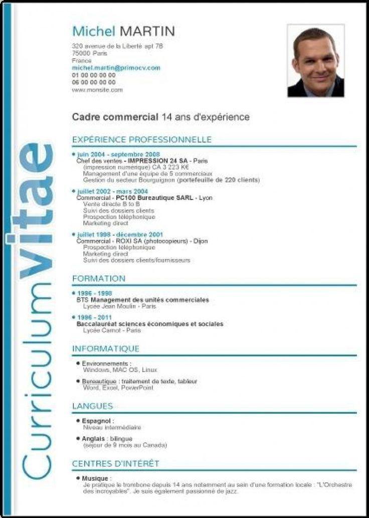 Curriculum Vitae. Ejemplo De Formato Y Diseño De Curriculum Vitae ...