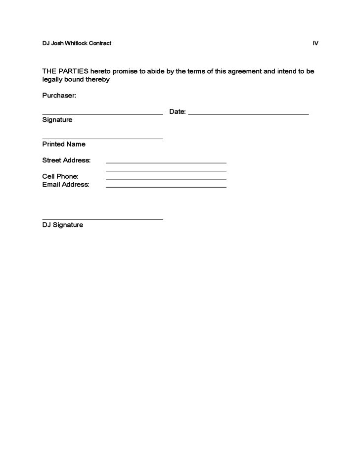 Sample DJ Contract Free Download