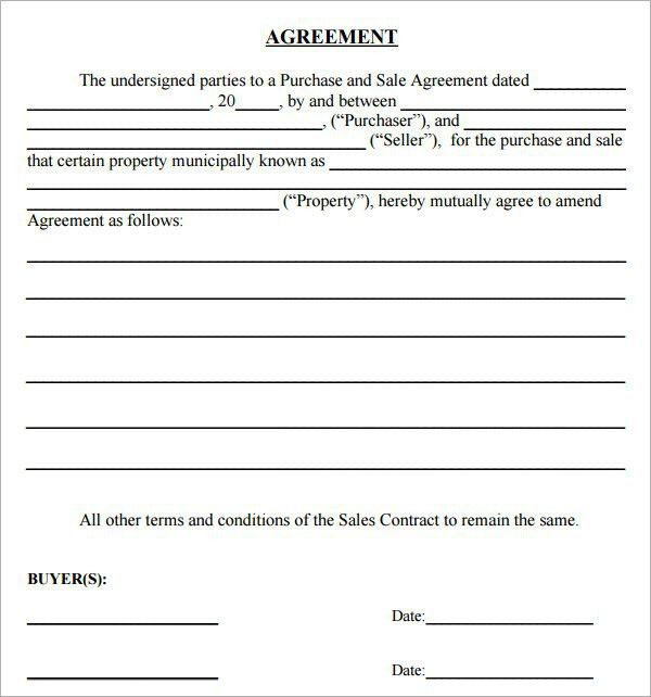 10 Best Images of Simple Purchase Agreement - Business Purchase ...