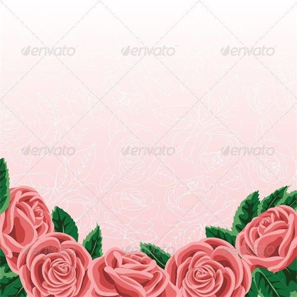 Template for Wedding Invitation or Greeting Card by Prikhnenko ...