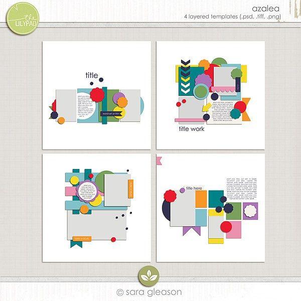 Scrapbooking Page Design Templates by Sara Gleason