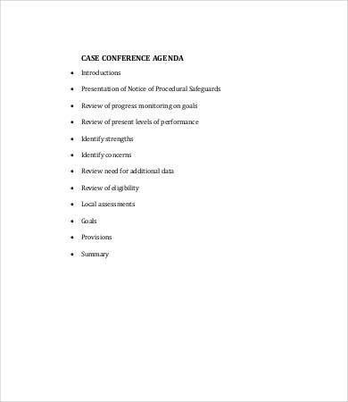 Conference Agenda Template - 9+ Free Word, PDF Documents Download ...