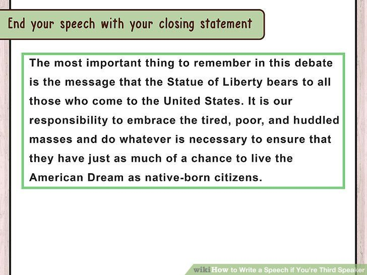 3 Ways to Write a Speech if You're Third Speaker - wikiHow