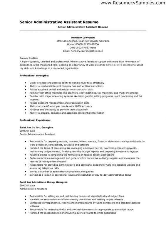 Sample Resume Executive Assistant, best 20+ sample resume ideas on ...