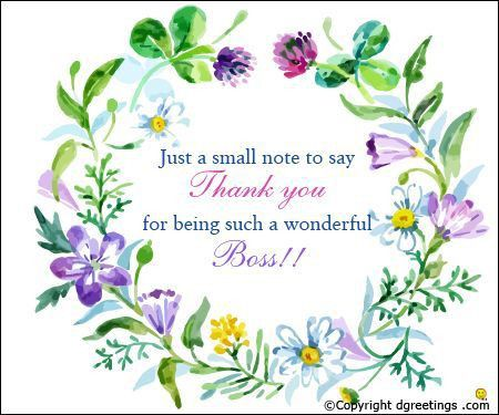 Say 'thank you' to your boss on Boss's Day. | Boss Day | Pinterest ...