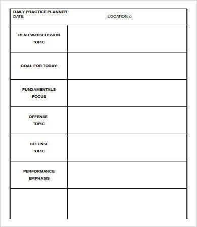 Printable Daily Planner Template - 9+ Free Word, PDF Documents ...
