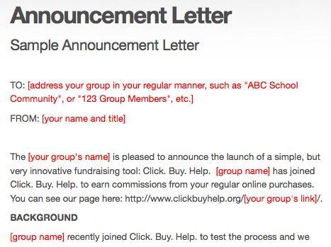 Official Announcement Letter Format   Letter Format 2017