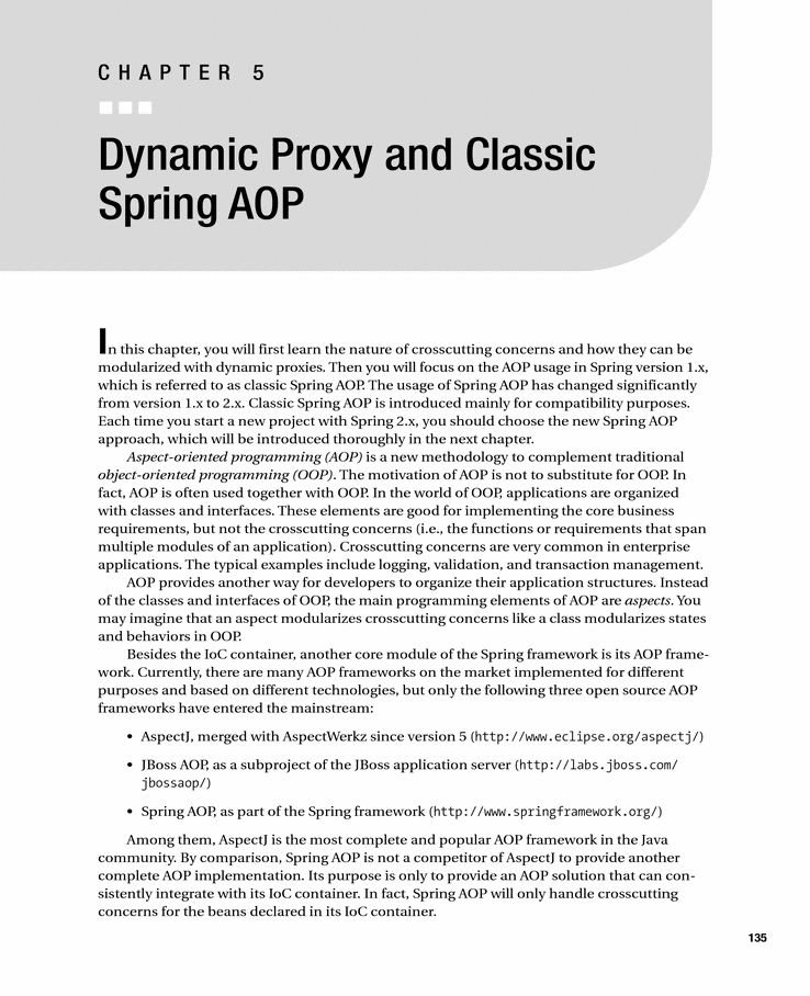 Dynamic Proxy and Classic Spring AOP - Springer