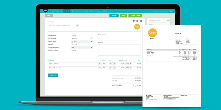 Free invoicing software - Zervant