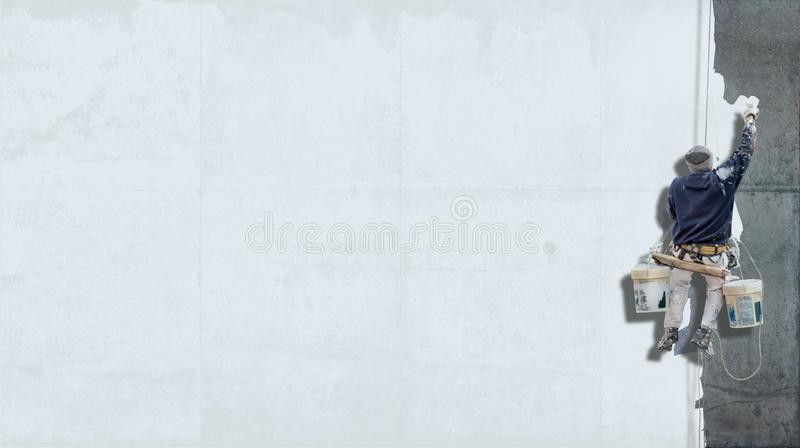 Industrial Painter White Background Stock Photo - Image: 56187722