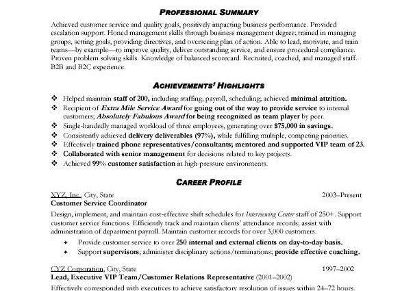 sample resume objectives customer service. full size of resumebest ...