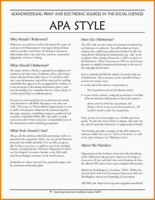 9+ example of apa format | nypd resume
