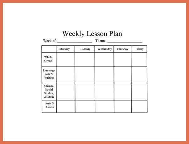 Lesson Plan Sample. Lesson Organizer Prep Sheet Omg Where Have You ...