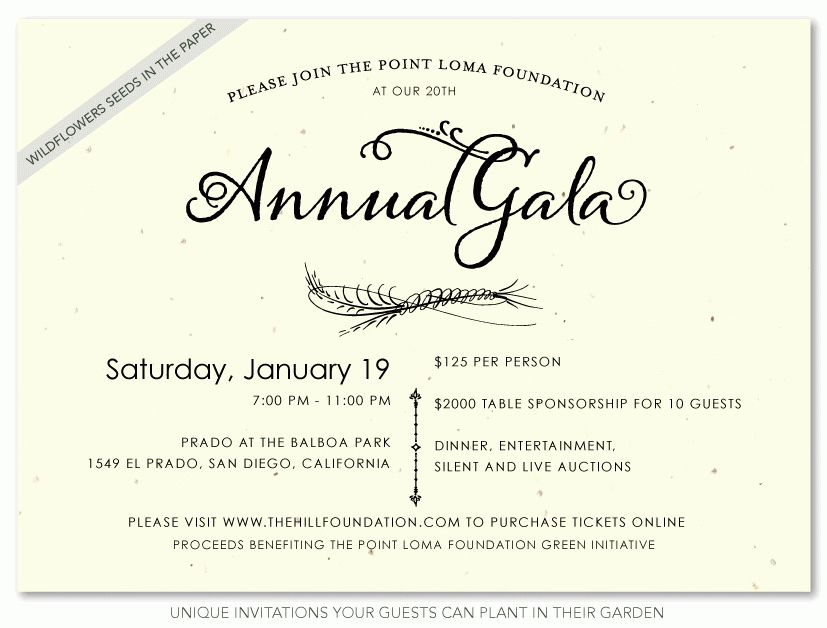 Unique Business Invitations ~ Natural Gala | Gala invitation, Seed ...