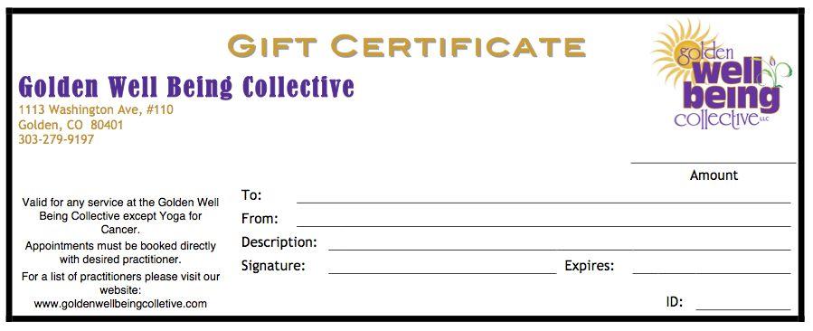 gift certificate form - thebridgesummit.co