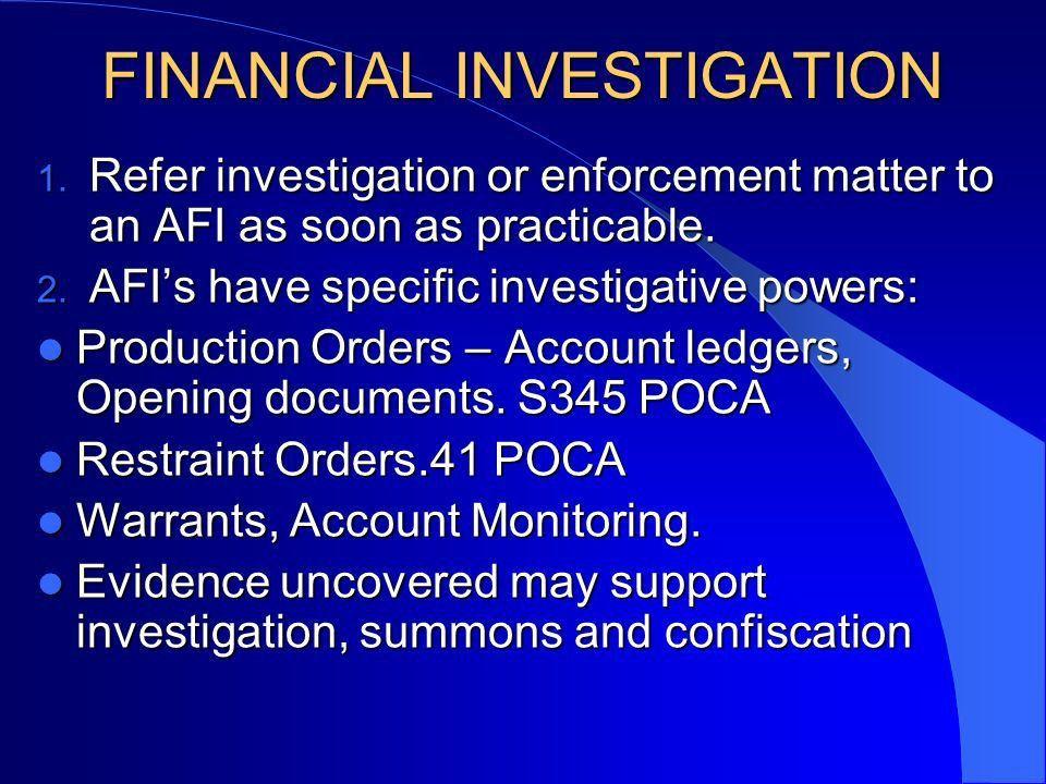 Planning – Fraud - Proceeds of Crime Act 2002 Matthew Chugg ...