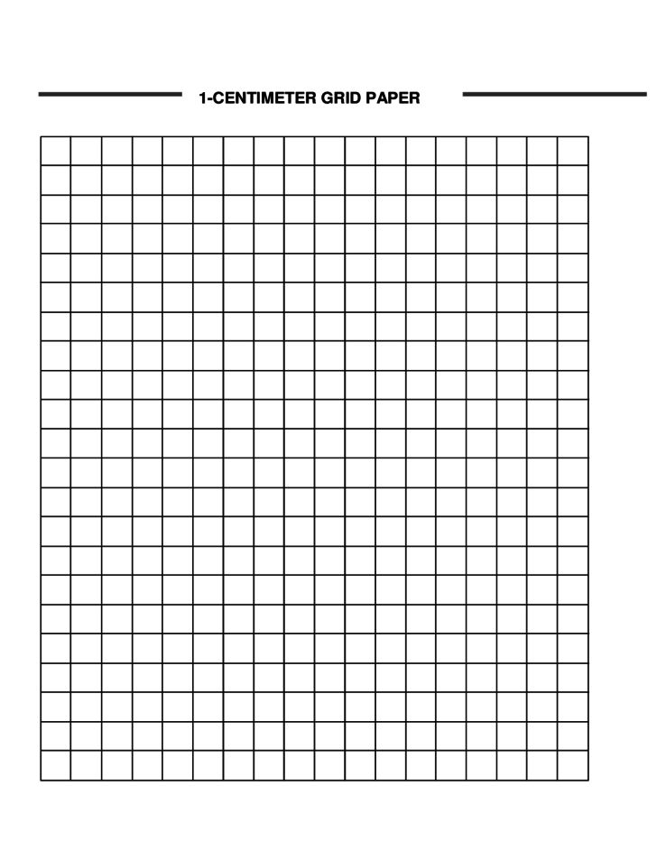 1-Centimeter Graph Paper Template Free Download