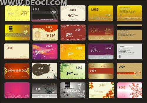 25 VIP membership card background Coreldraw design templates CDR ...
