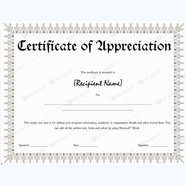 Certificate Of Appreciation Wordings #appreciationword ...