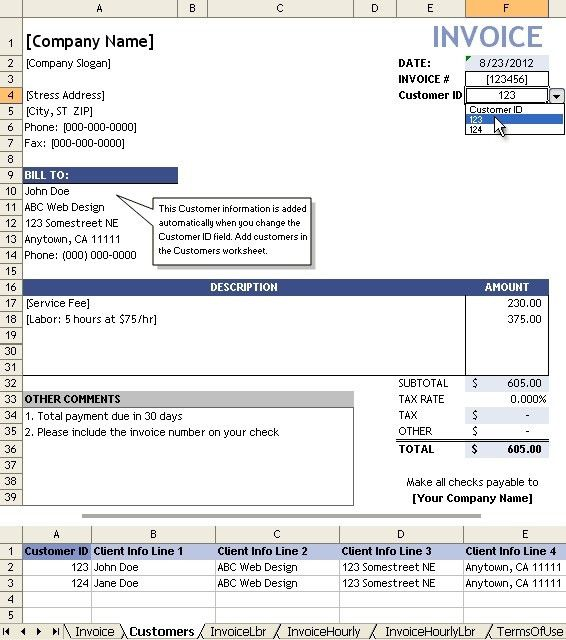 Sample Invoices For Services - Best Resume CollectionInvoices ...