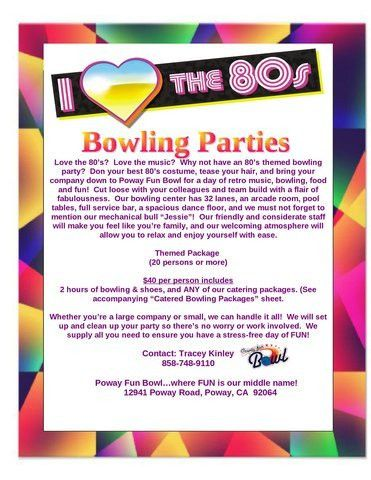 Company Team Building Themed Event Package 6 Poway Fun Bowl ...