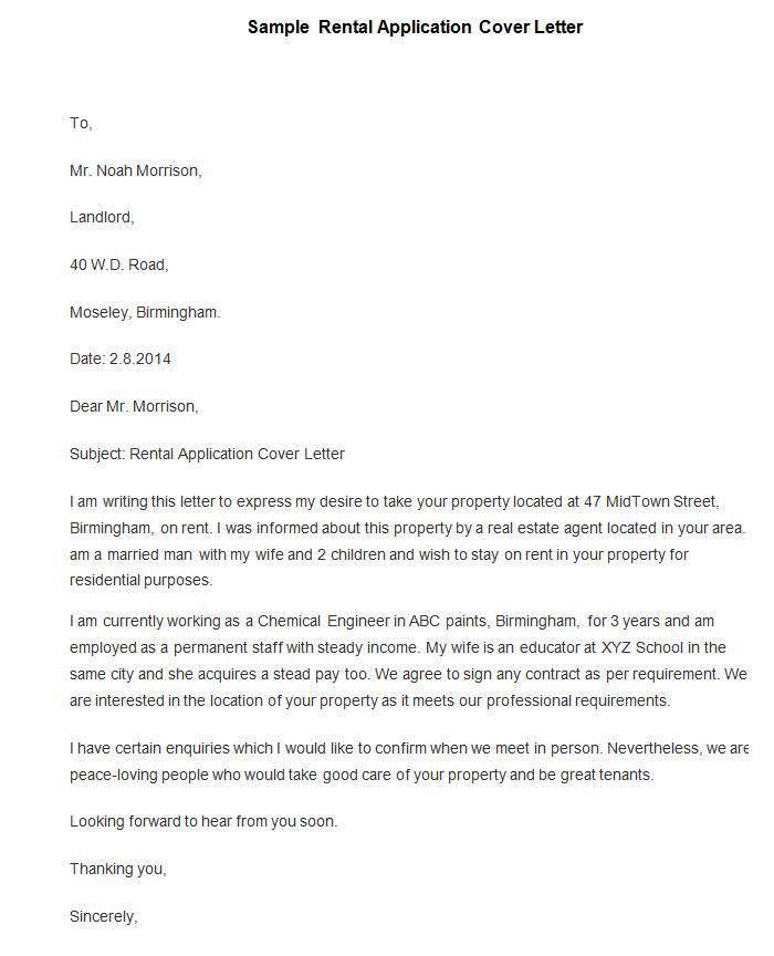 sample cover letters samantha jones. rental letter. 13 best rental ...