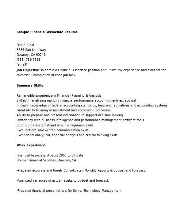 accounting associate resume free accounting associate resume
