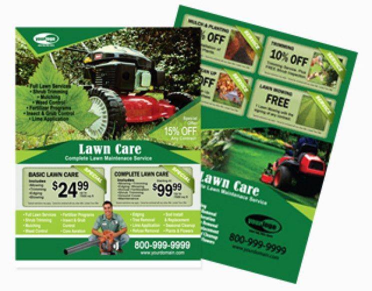 Lawn Maintenance Flyers Anuvratinfo, Nursery Plants Postcard ...