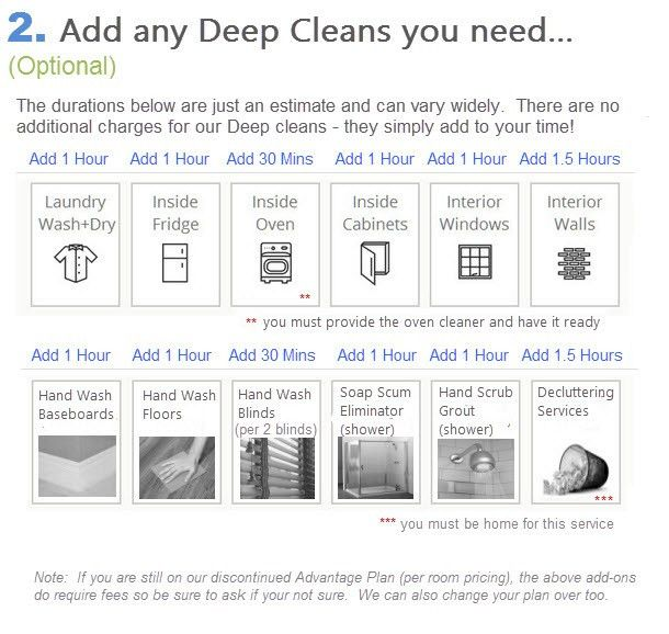 Deep Clean Services – Squeaky Clean House Cleaning Services