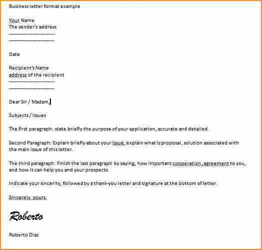 10+ business letter format example - Basic Job Appication Letter