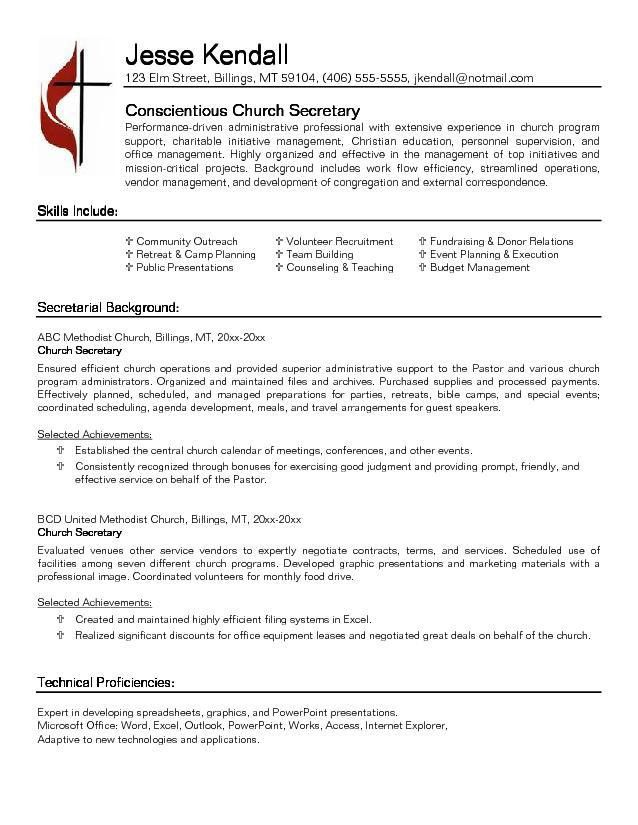 Professional Secretary Templates To Showcase Your Talent