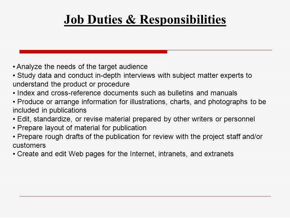 job duties responsibilities. 14 useful materials for software ...