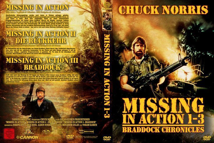 Missing in Action 1 - 3: Region 2 DVD Cover | Missing in Action ...