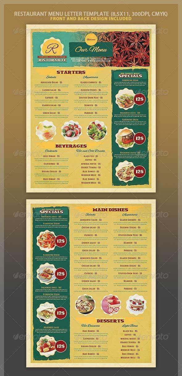 46+ Best Restaurant Menu Design Templates PSD Download