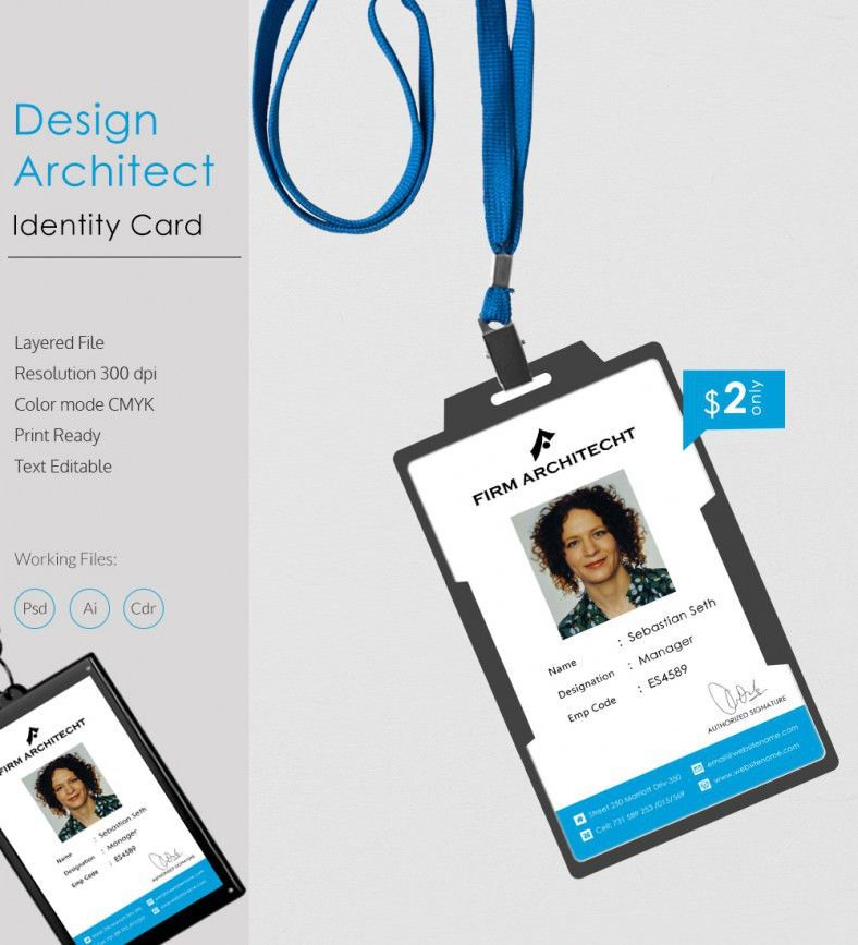 Perfect Design Architect Identity Card Template | Free & Premium ...